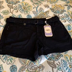 NWT!  One 5 One black belted shorts. 10P